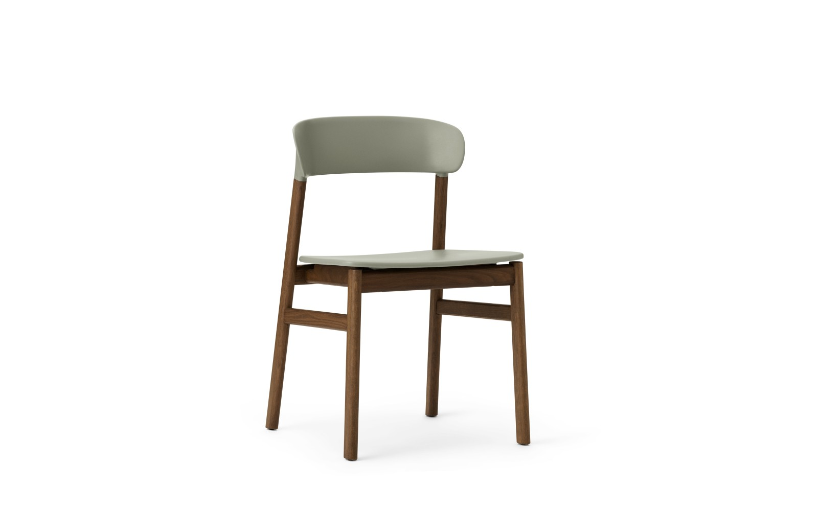 Herit Dining Chair Dusty Green, Smoked Oak