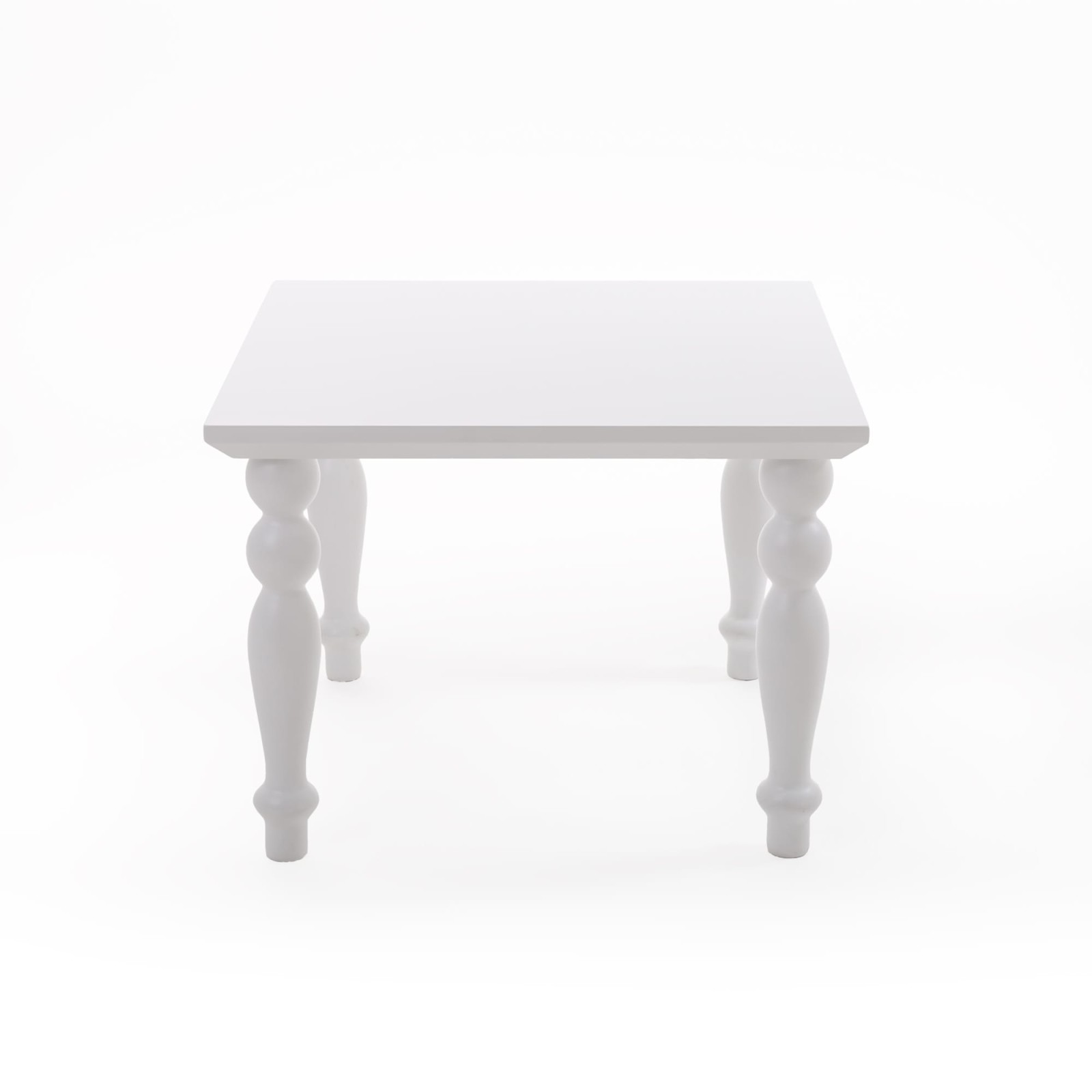 Heritage Square Coffee Table White
