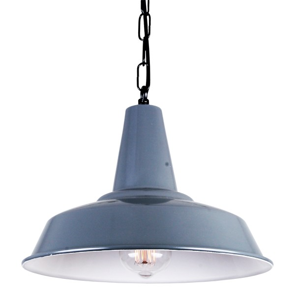 Hex Factory Pendant Light Powder Coated Grey