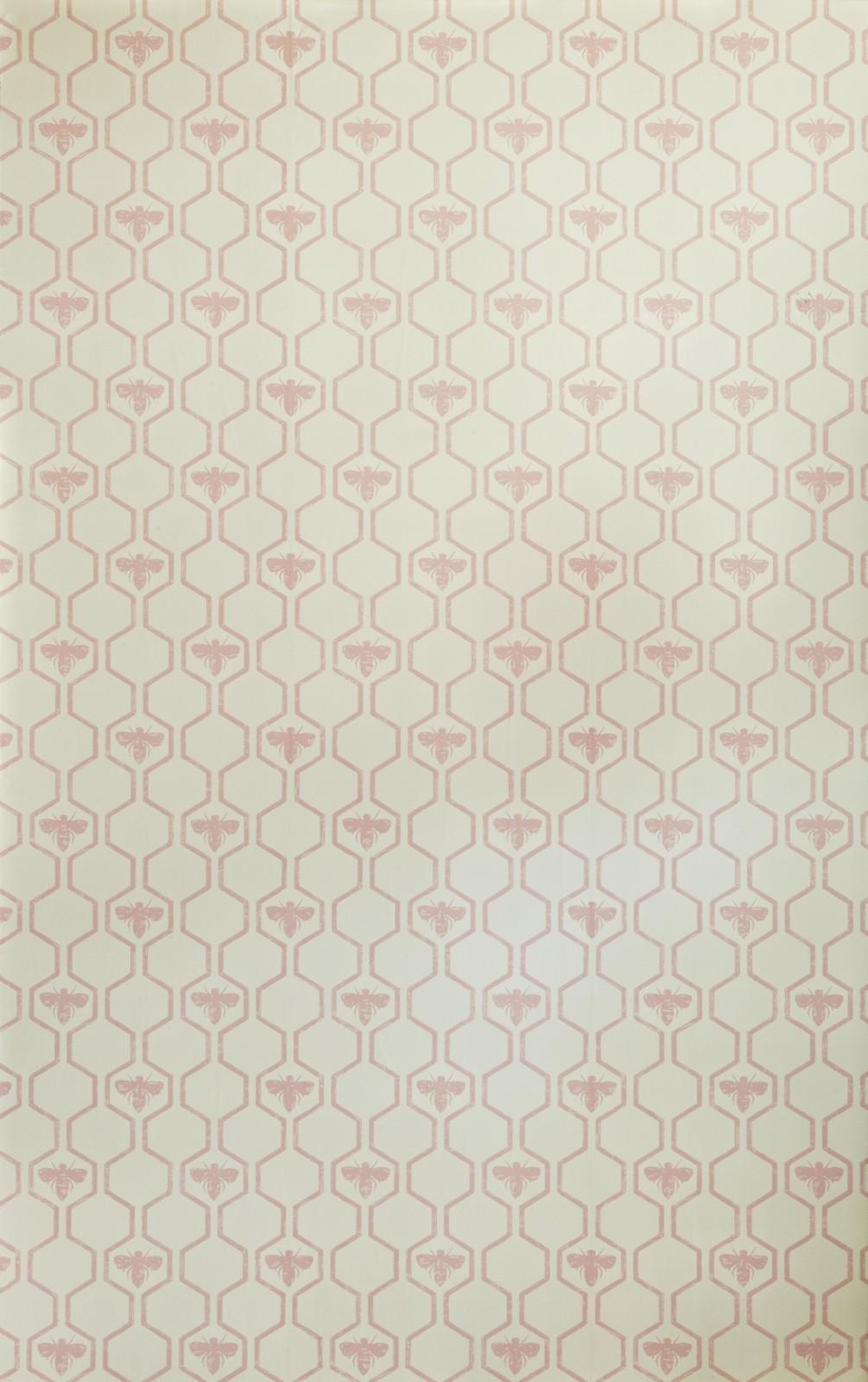 Honey Bees Wallpaper Rose on Stone