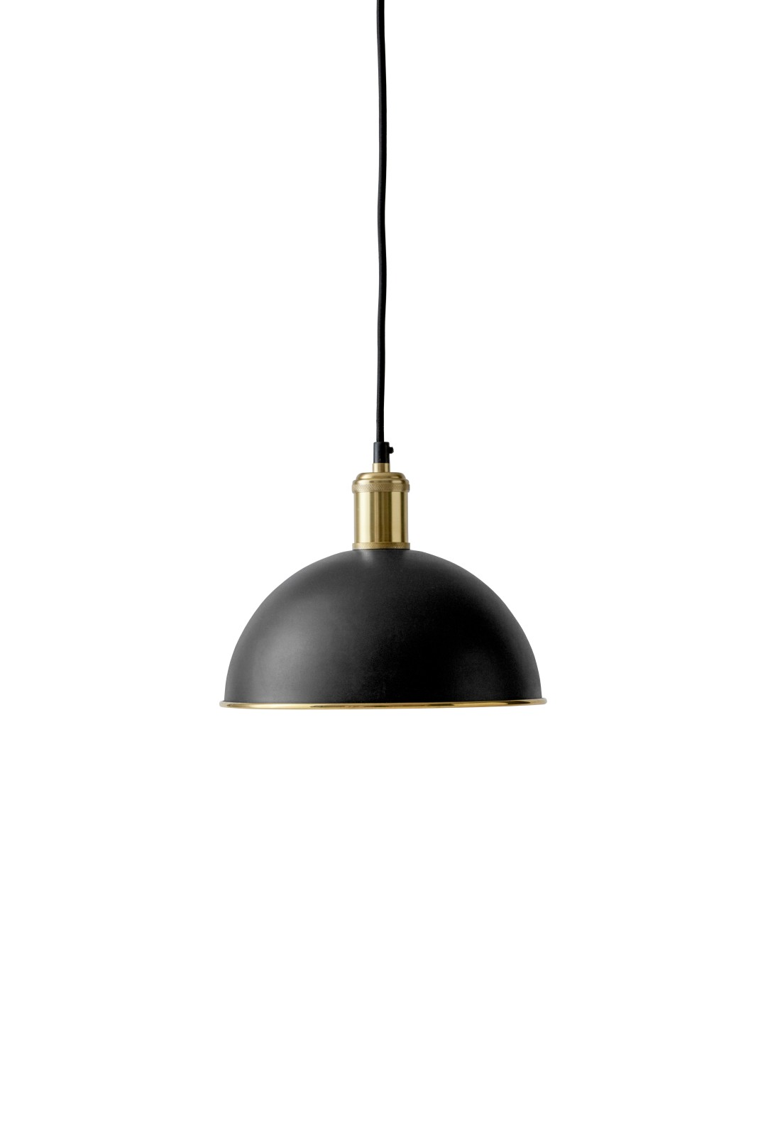 Hubert Pendant Light - Set of 2 Black, Bronzed Brass