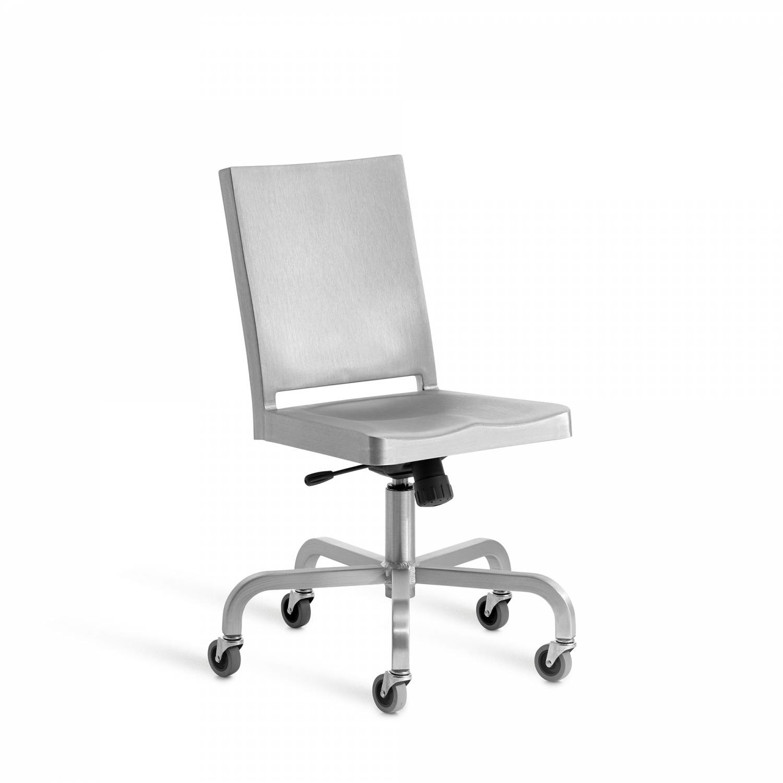 Hudson Swivel Chair Hand Brushed