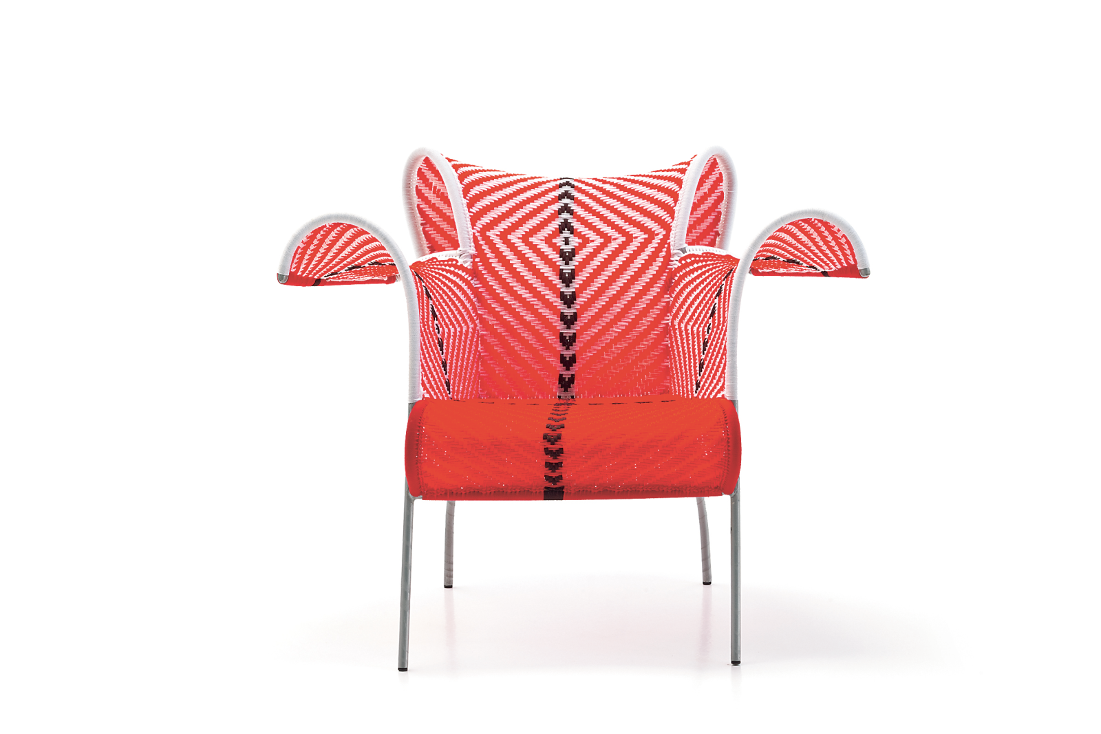 Ibiscus Armchair White and Red