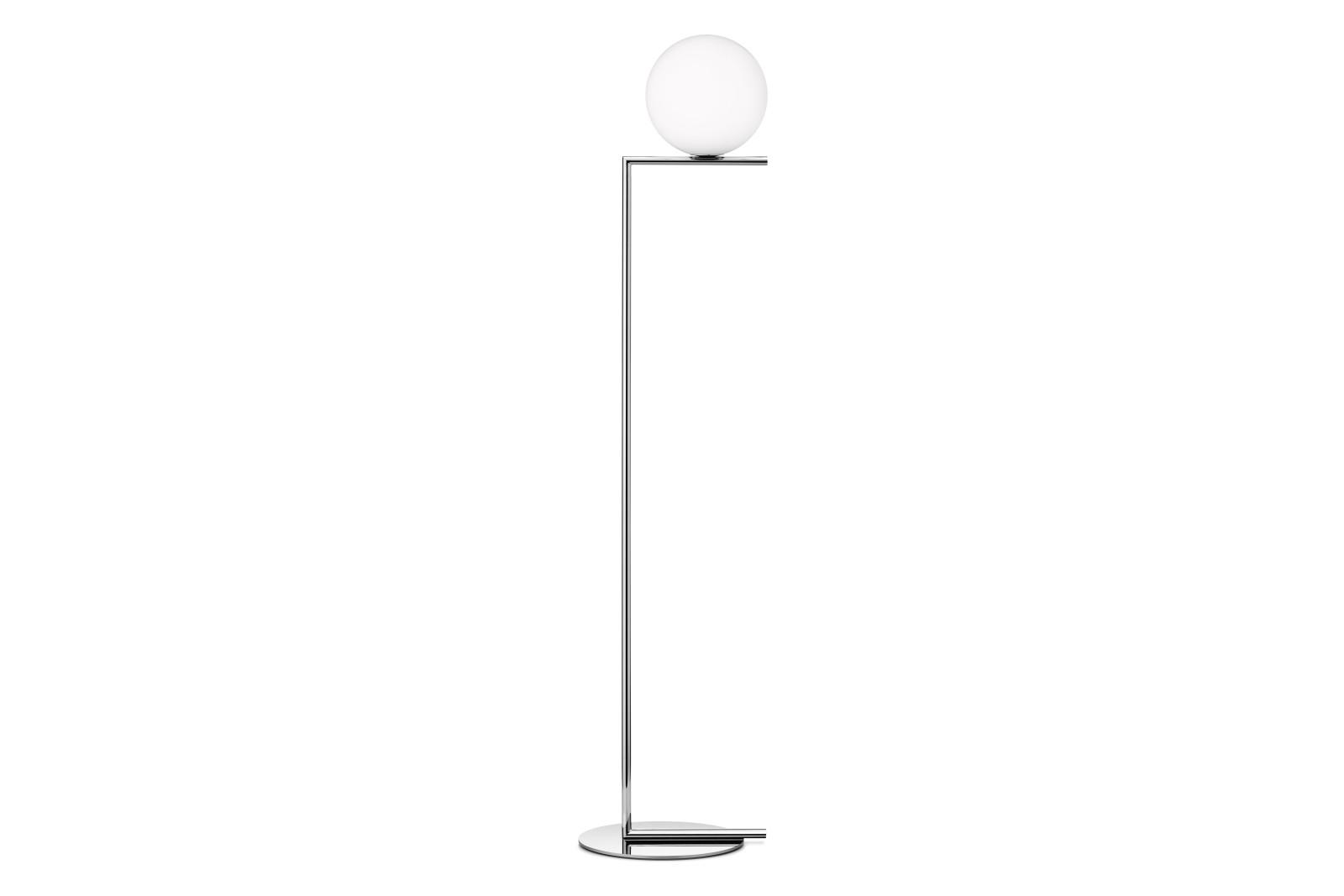 IC Floor Lamp F1, Chromed Steel, Small