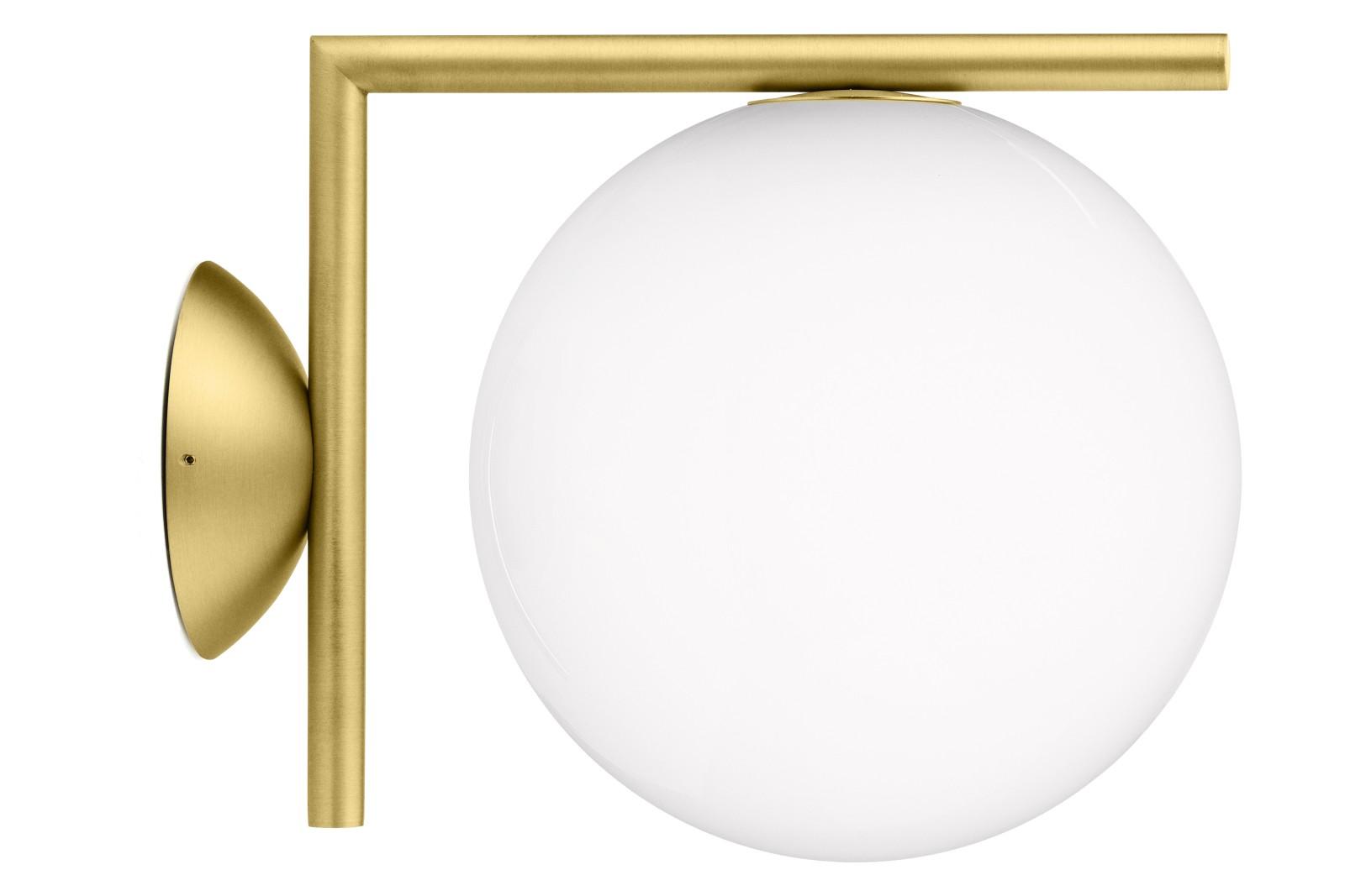 IC Wall Light C/W1, Brushed Brass, Small