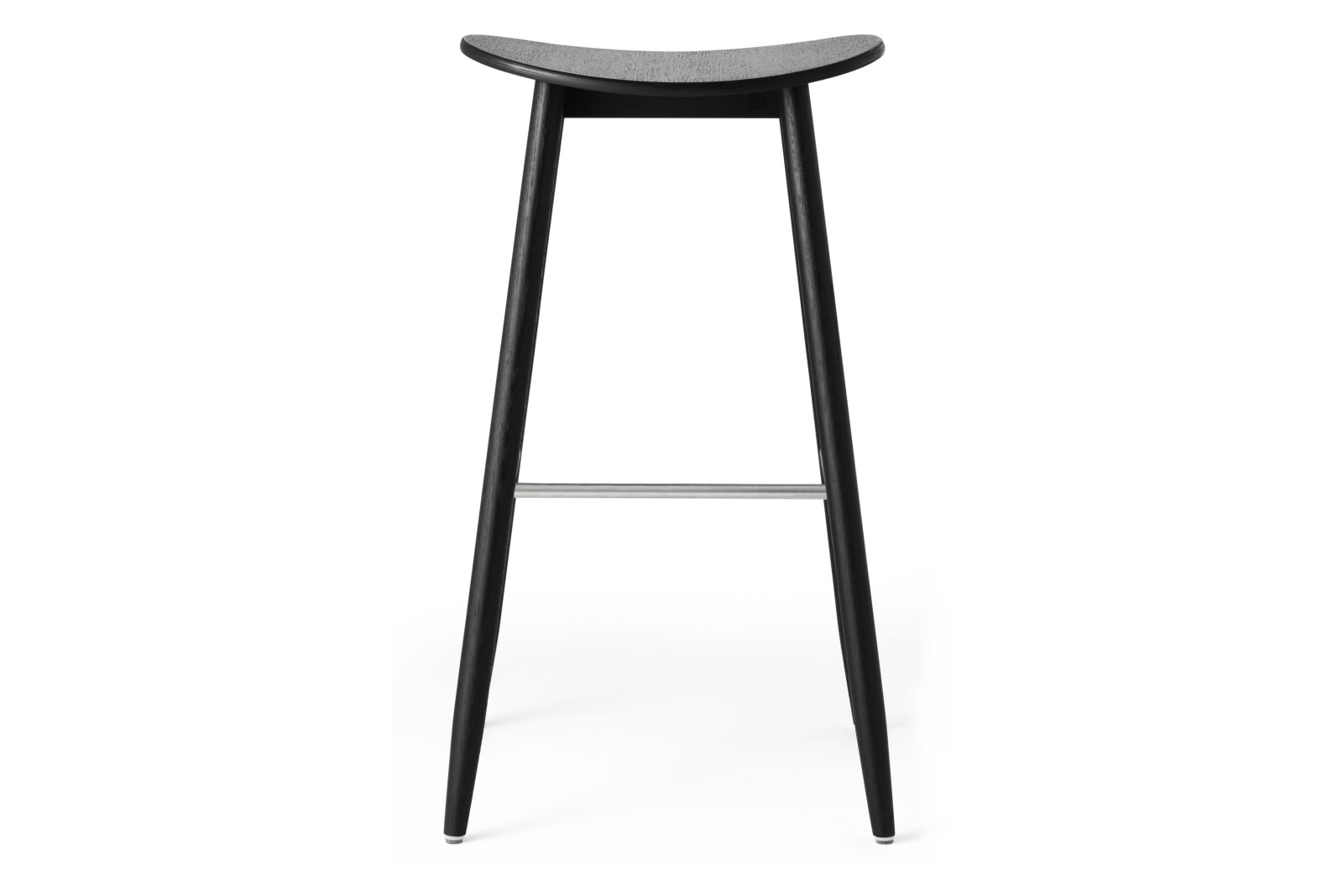 Icha Bar Stool Black Stained Oak, 75cm