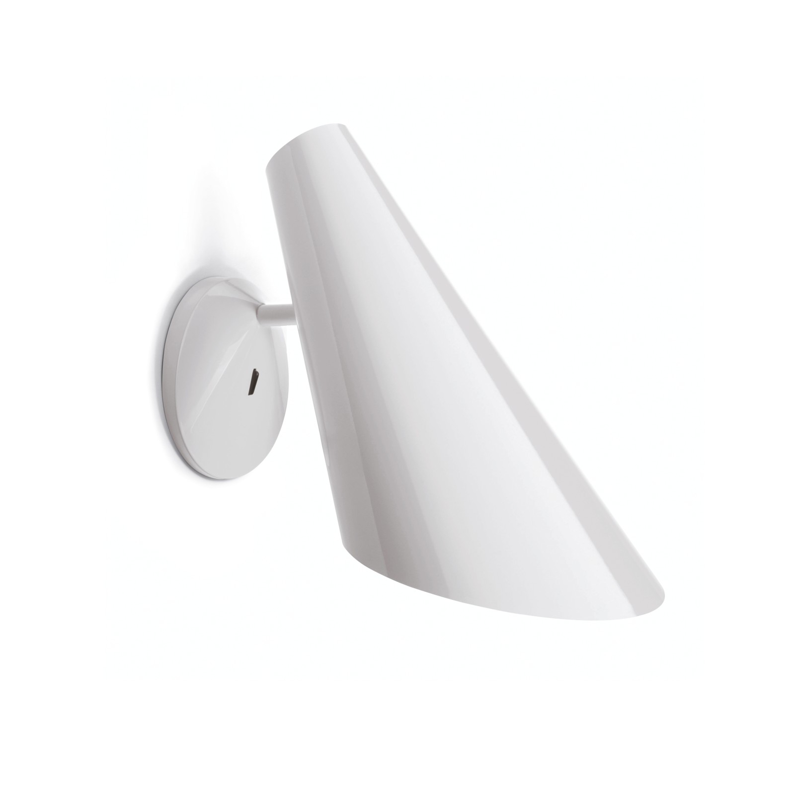 I.Cono 0720 Wall Light Gloss White Lacquer