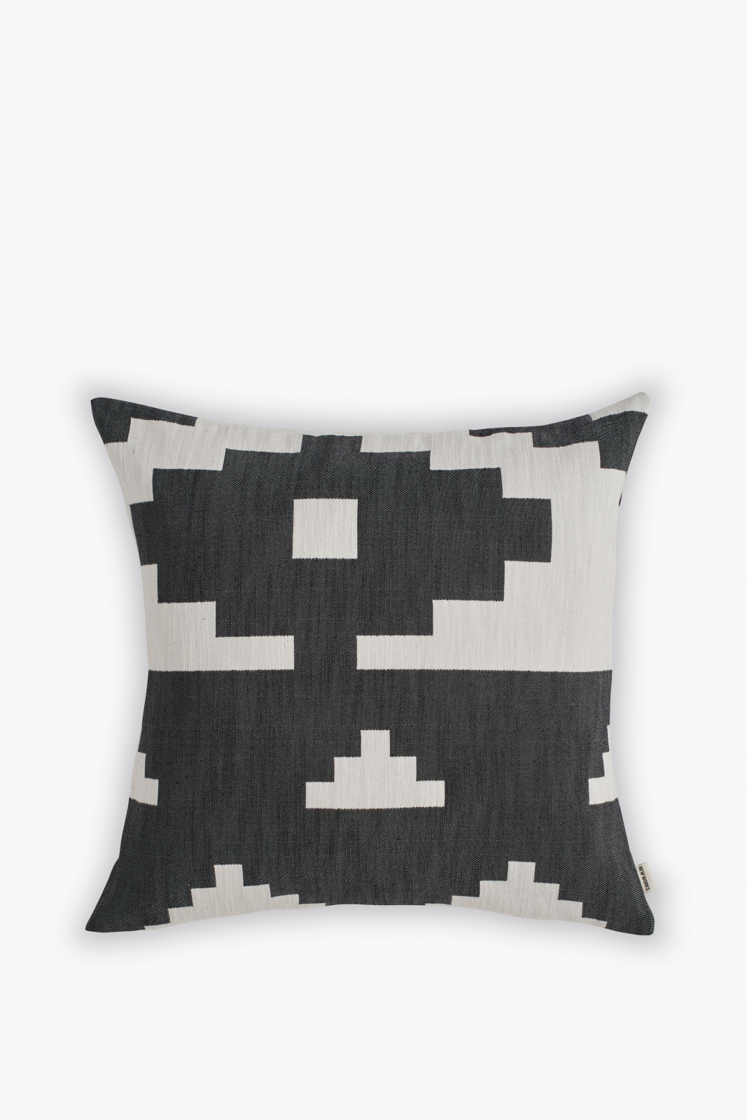 Ikat Square Cushion Black