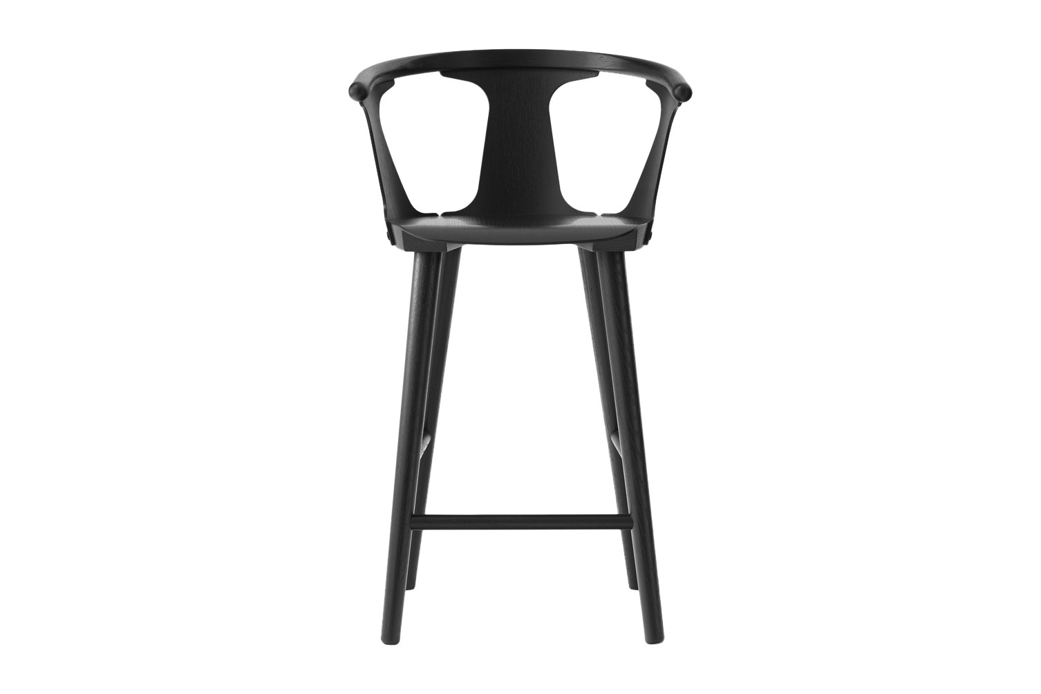 In Between SK9 Bar Stool Black lacquered oak