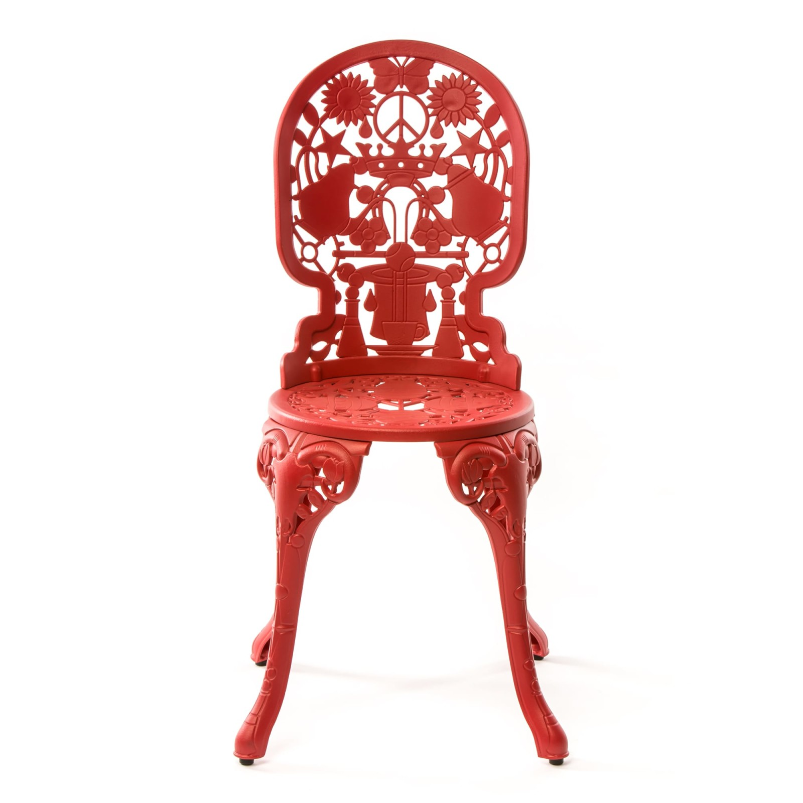 Industry Aluminium Chair Red