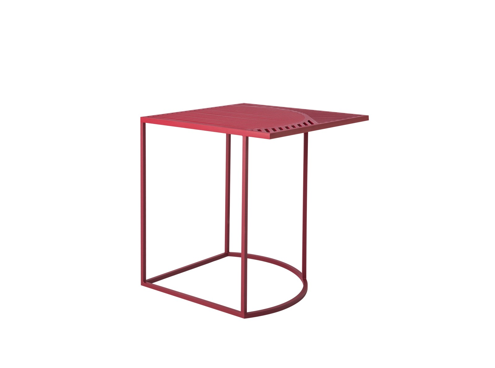 Iso B Square Side Table Burgundy