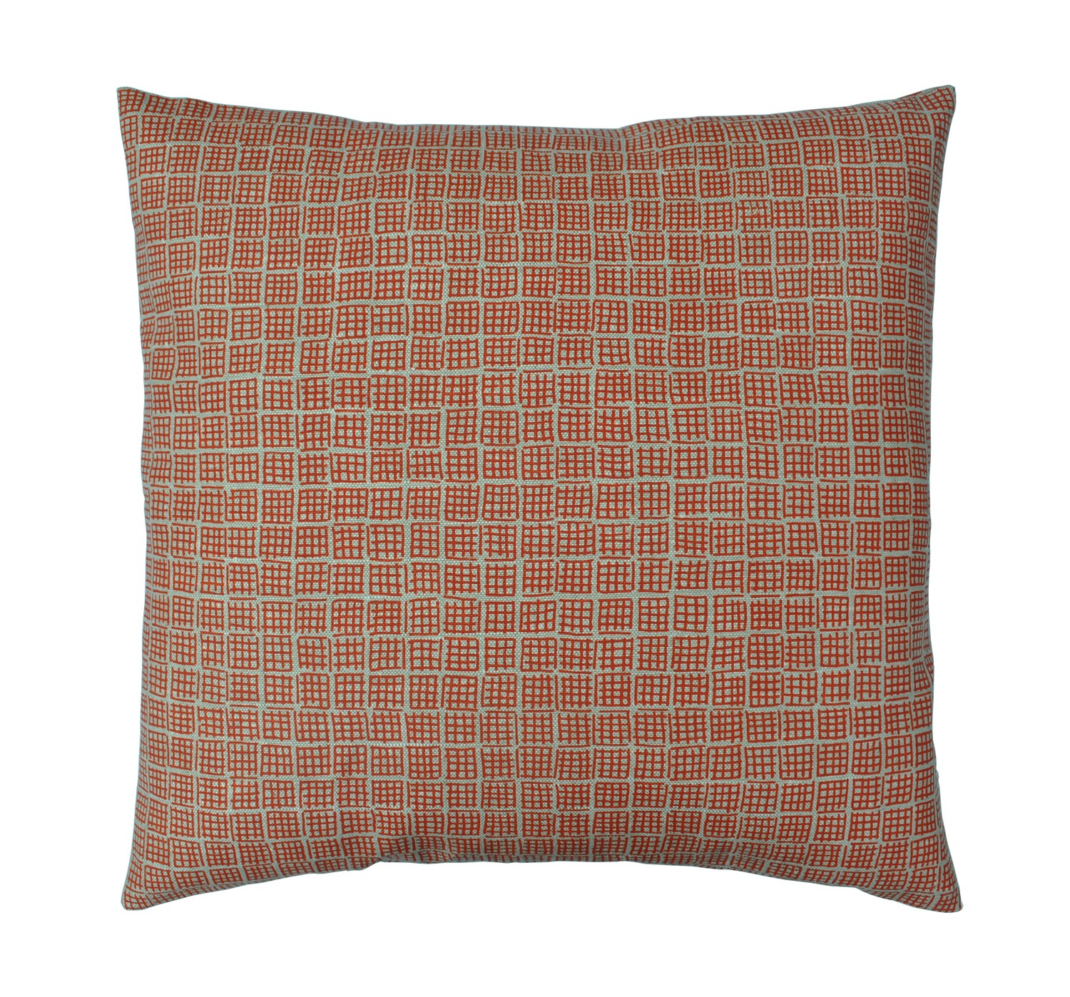 Ivor Square cushion Orange