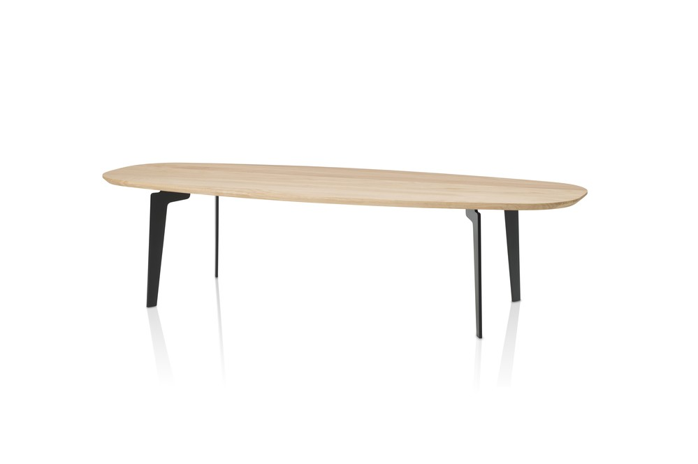 Join Oval Coffee Table Large, Clear Lacquered Oak