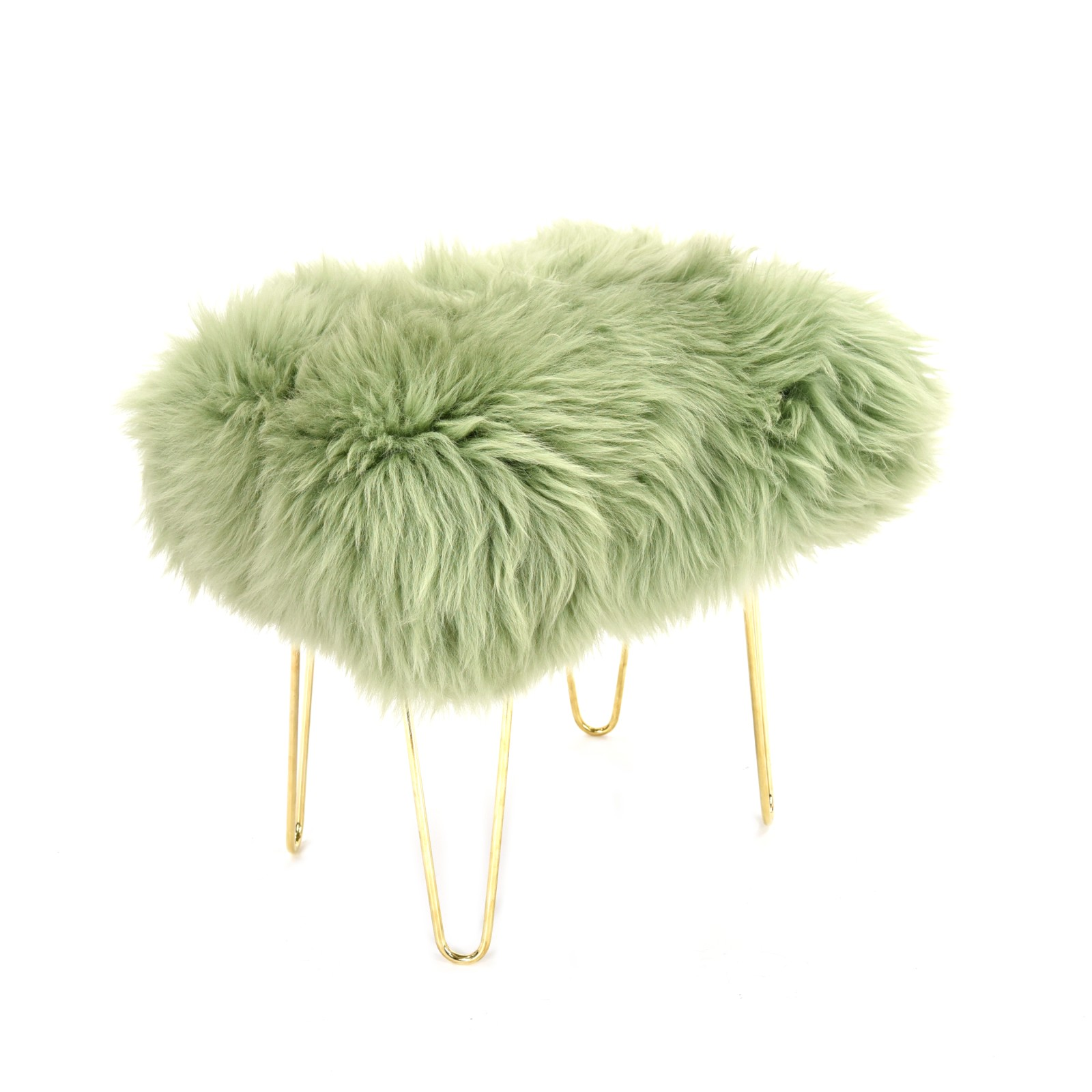 Judy Sheepskin Footstool in Sage