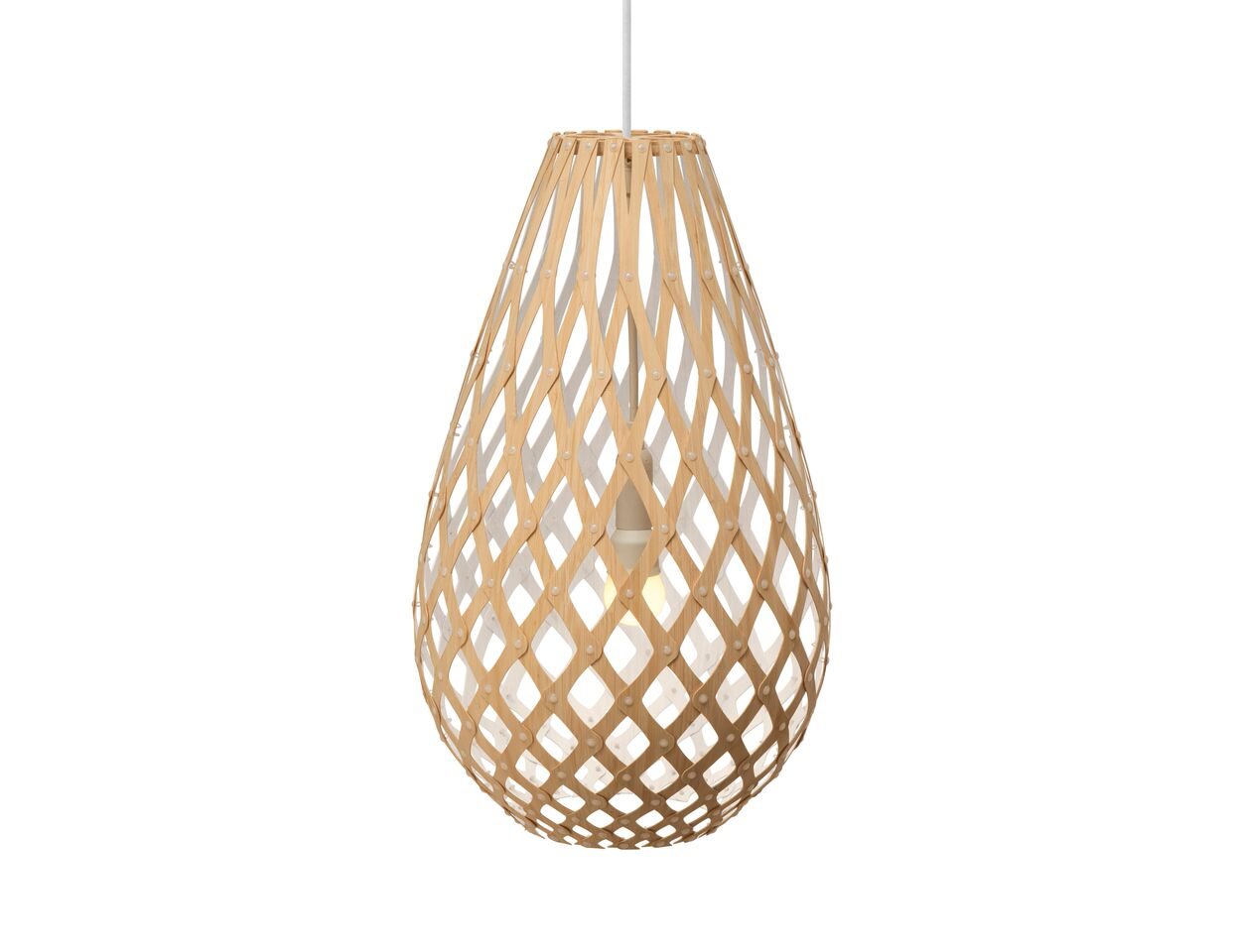 Koura Pendant Light White 1 Side, 50