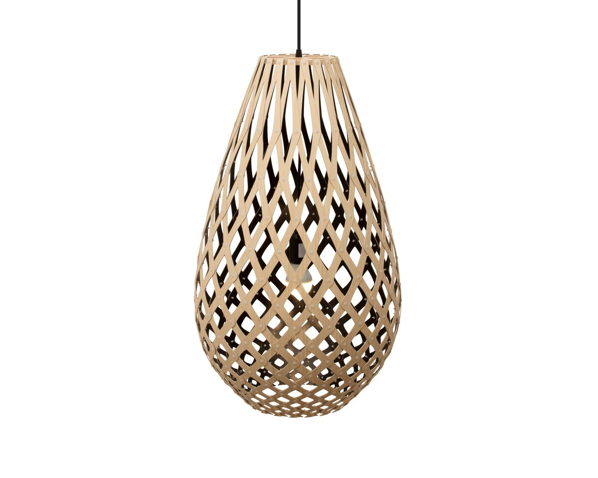 Koura Pendant Light Black 1 Inside, 75