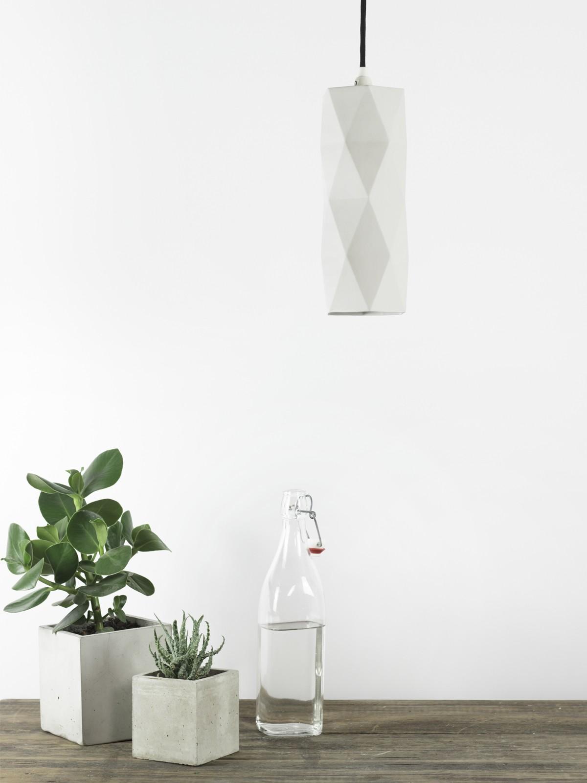 [K2] Pendant Lamp Triangle Matte Porcelain