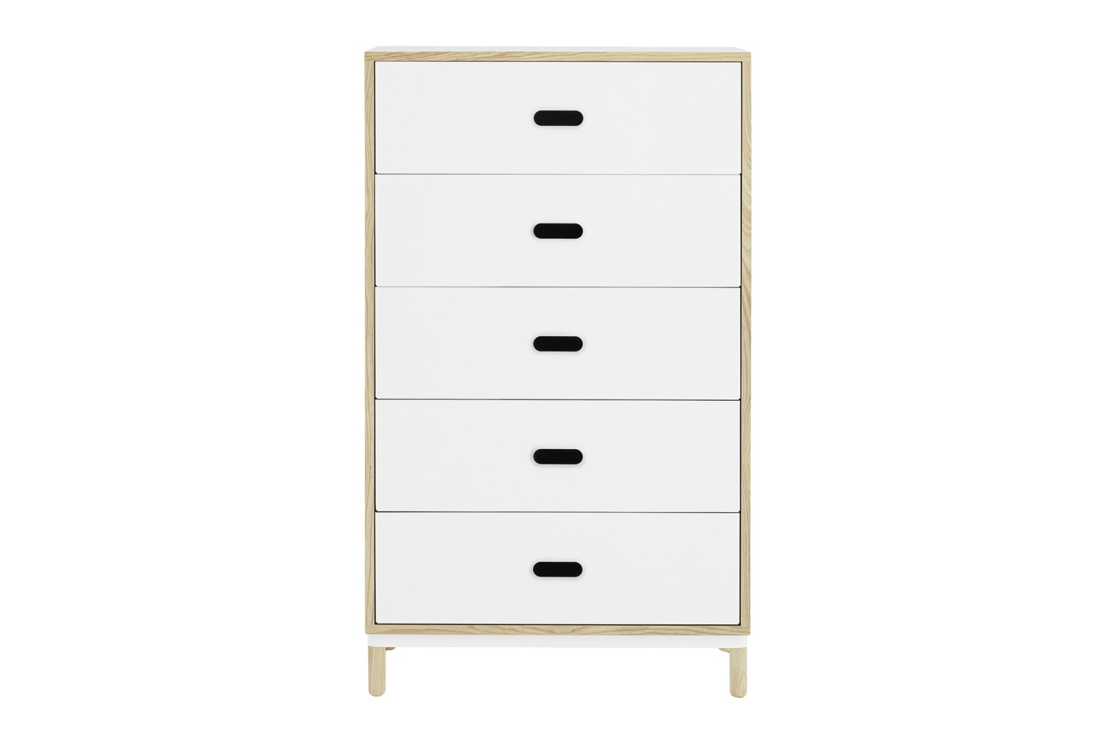 Kabino Dresser with 5 Drawers White