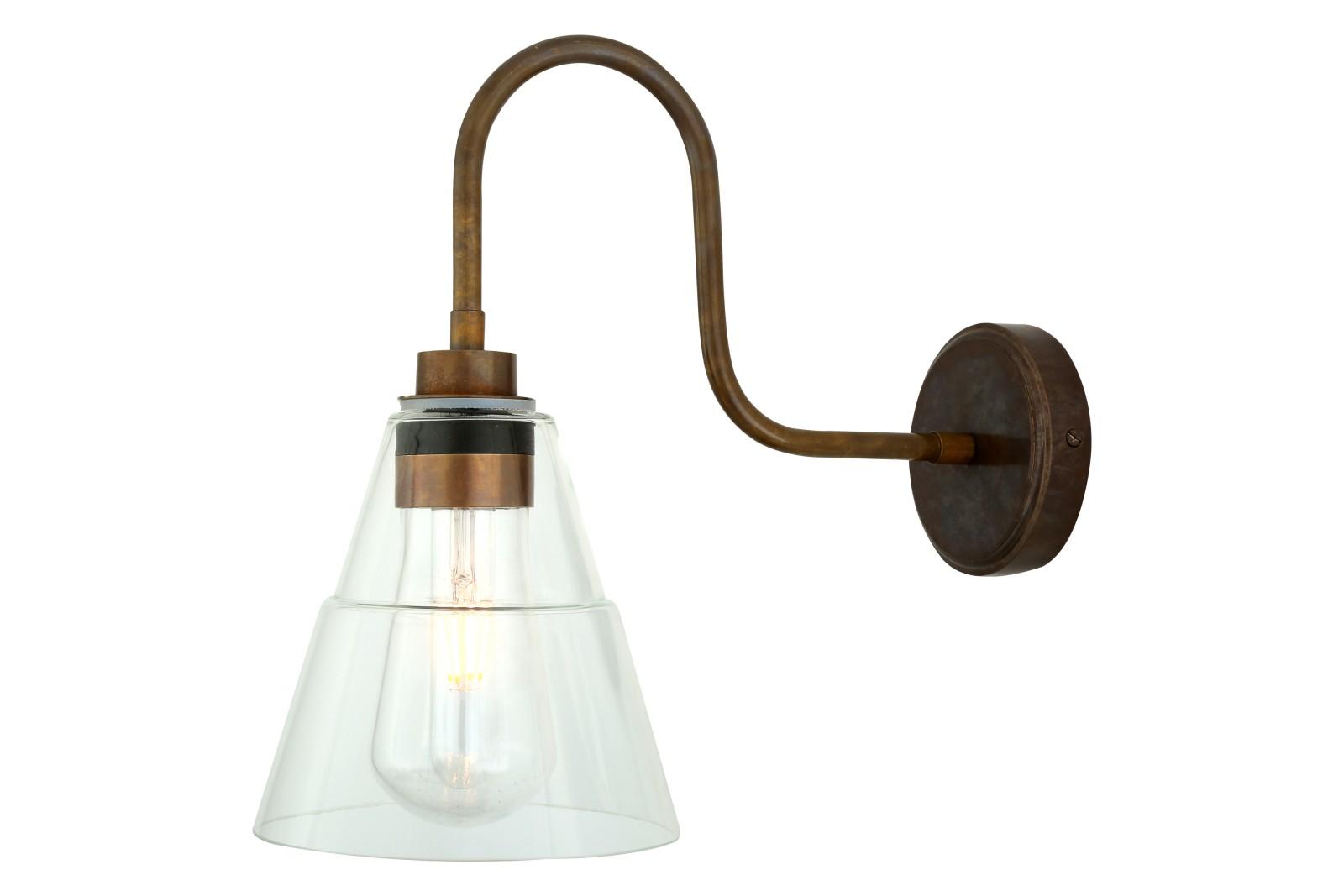 Kairi Swan Neck Wall Light Antique Brass
