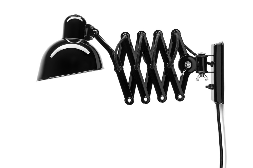 Kaiser Idell Stretchable Swivel Wall Lamp Black