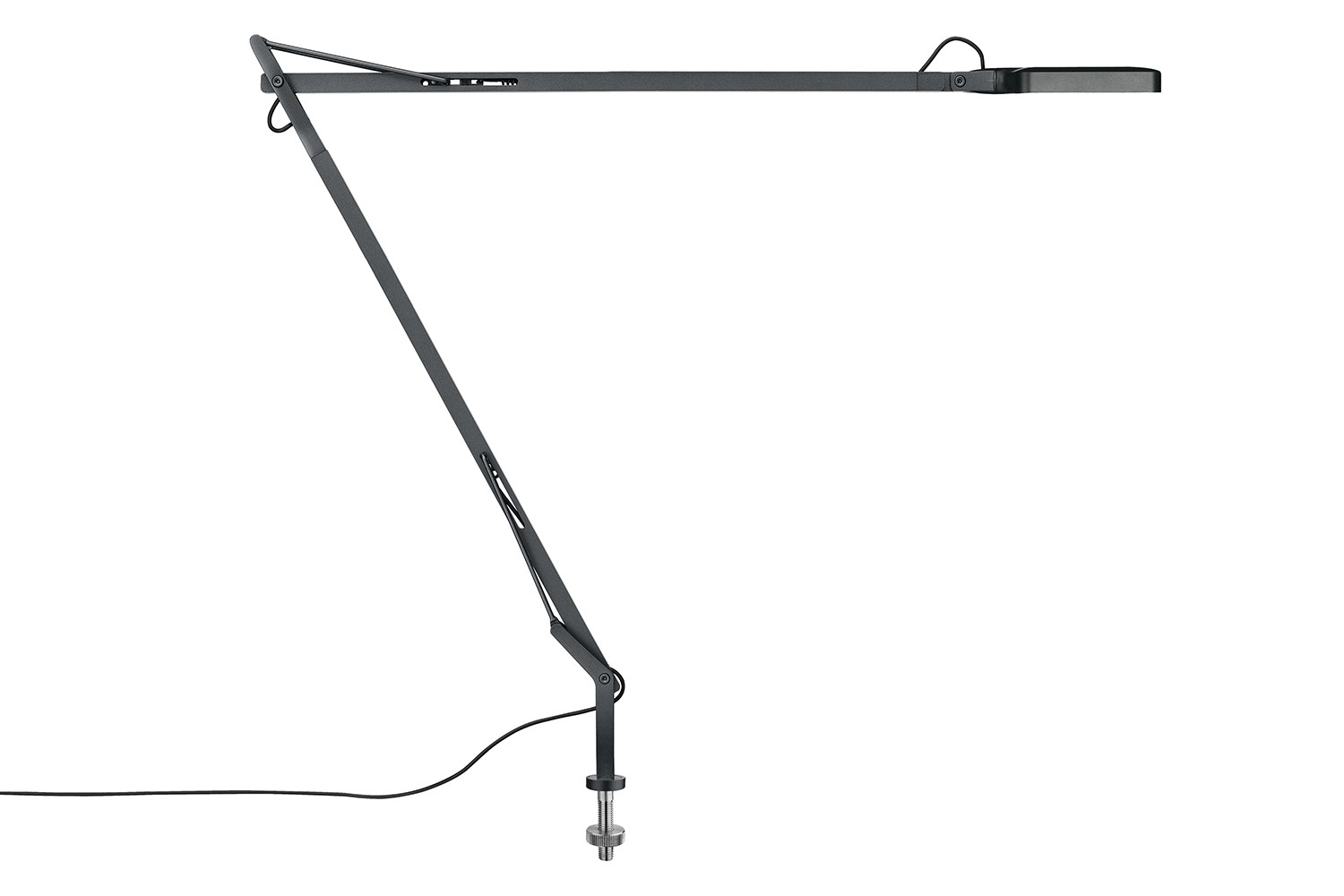 Kelvin Desk-Mounted Lamp with Visible Cable Anthracite