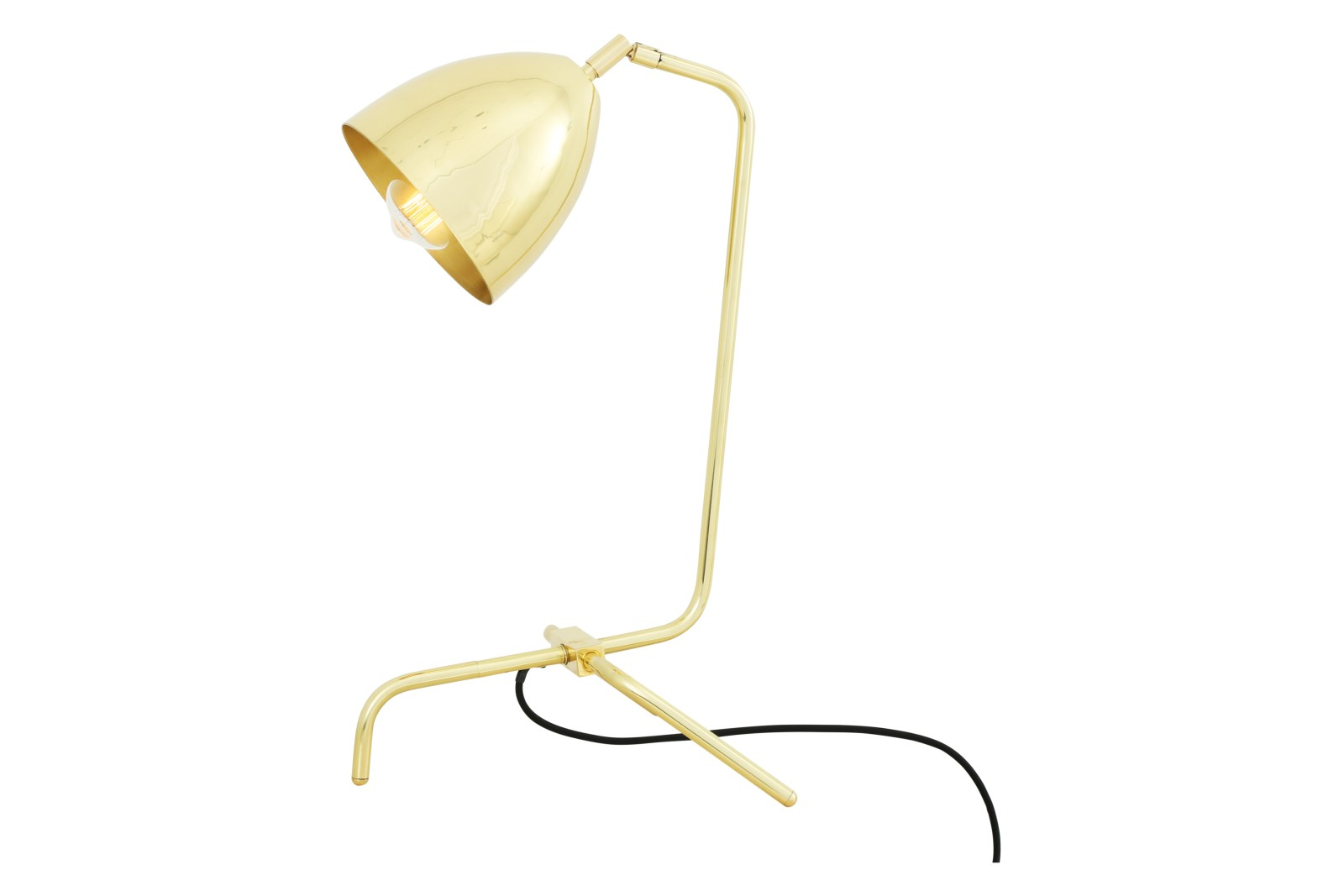 Kinshasa Table Lamp Polished Brass, EU Plug