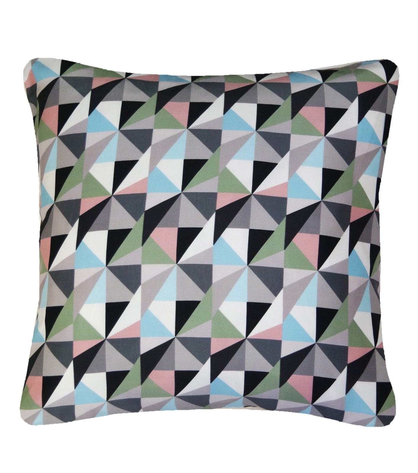 Kite Printed Square Cushion Khaki and Pink