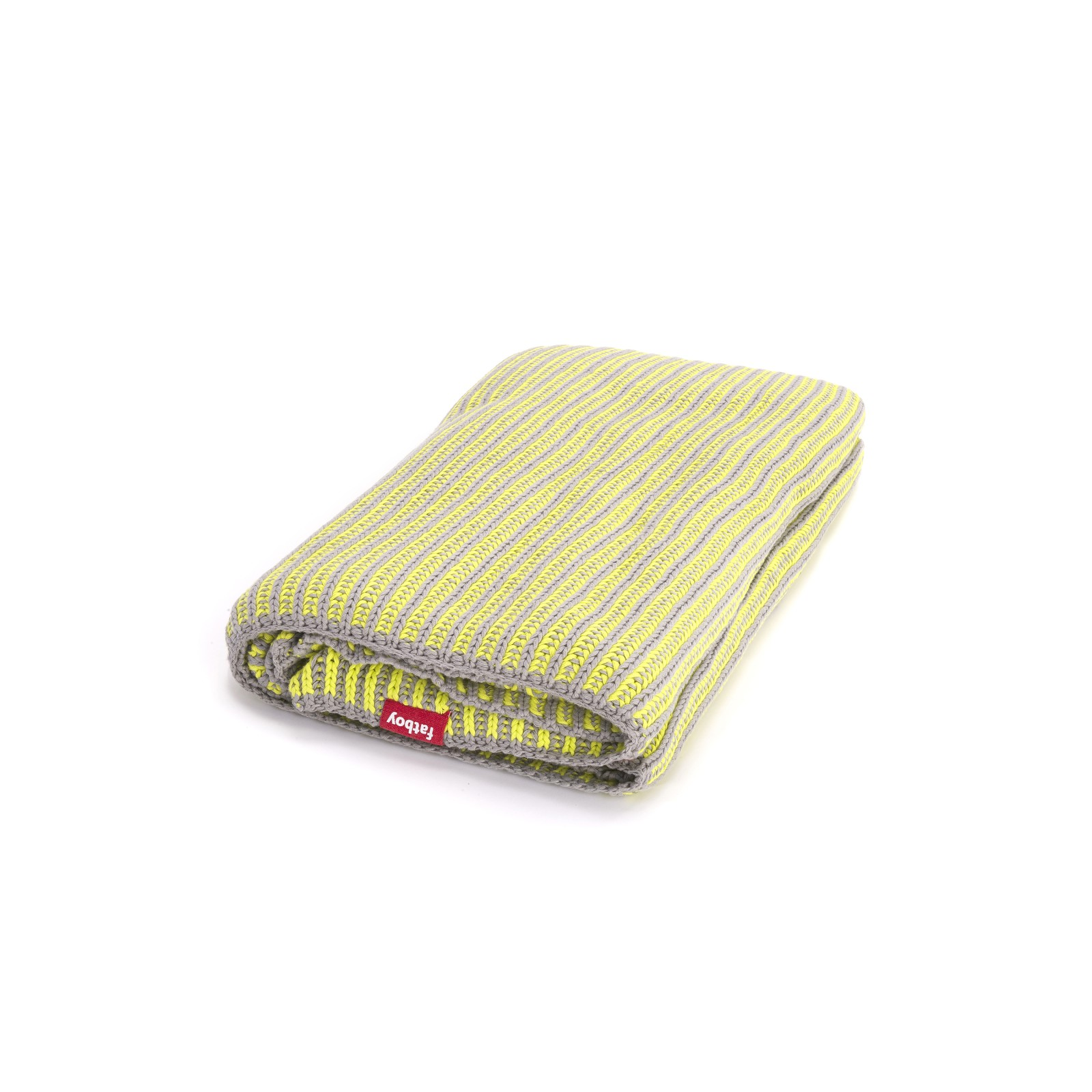 Klaid Throw Light grey with neon yellow