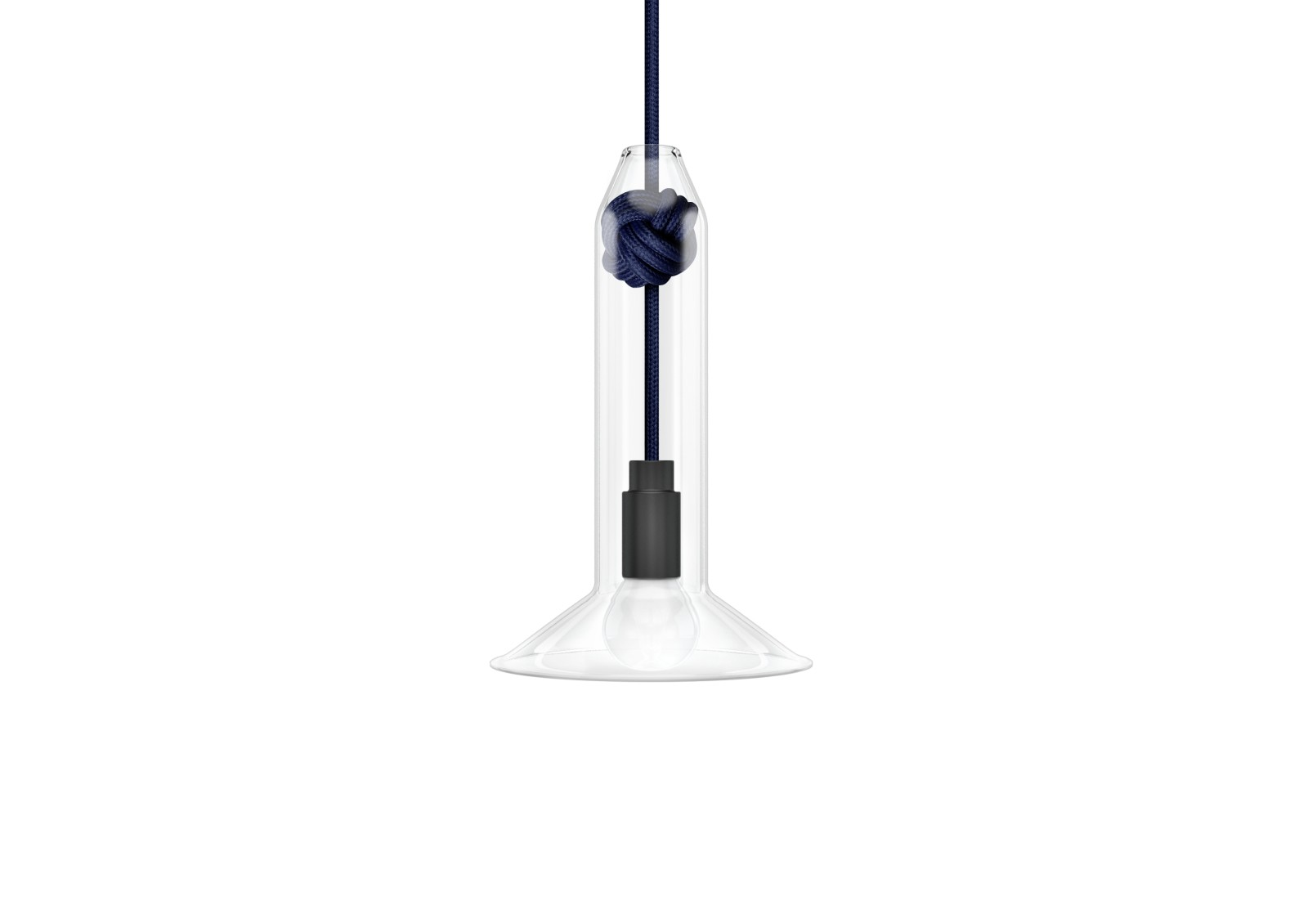 Knot Narrow Pendant Light Navy