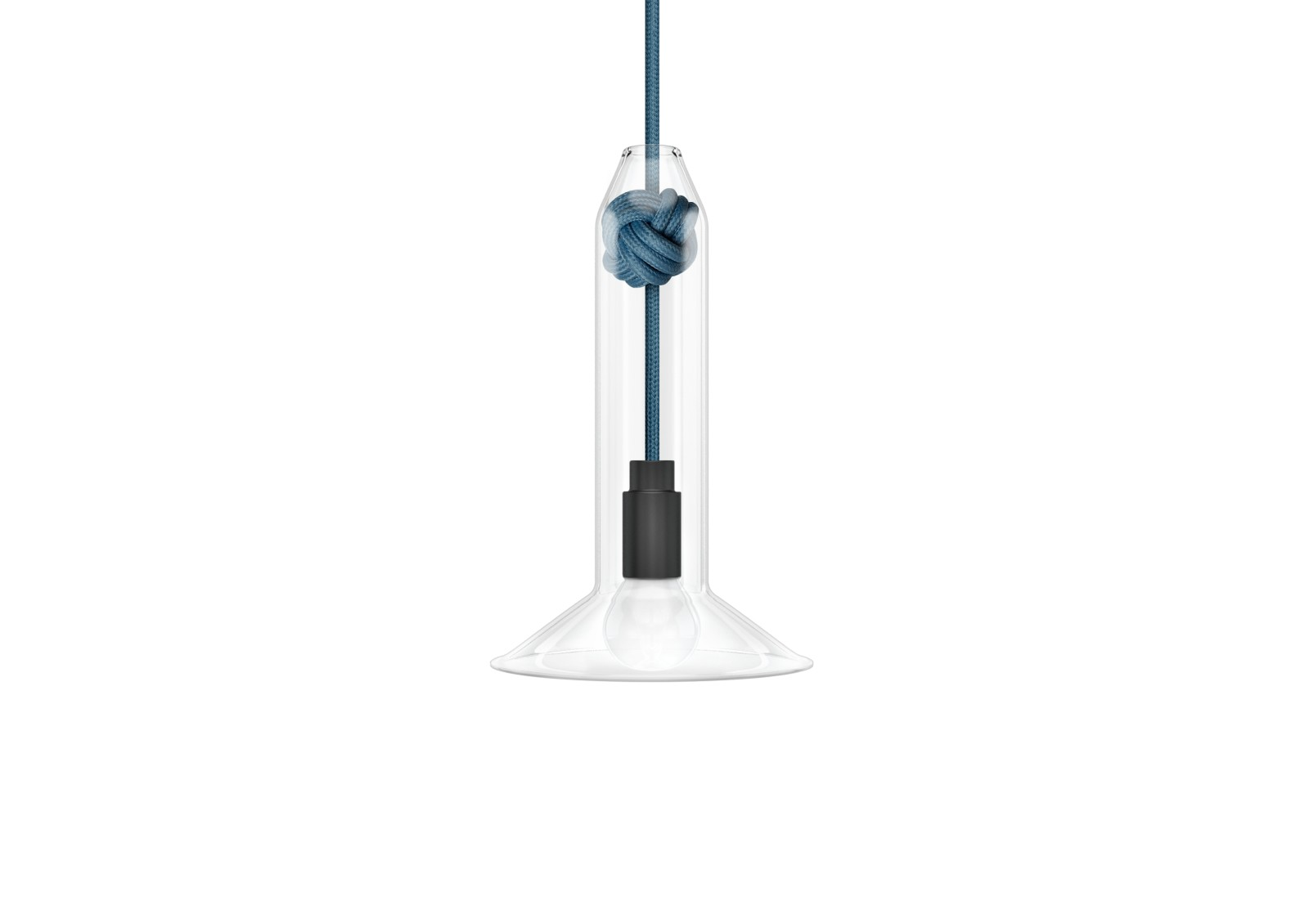 Knot Narrow Pendant Light Mid Blue