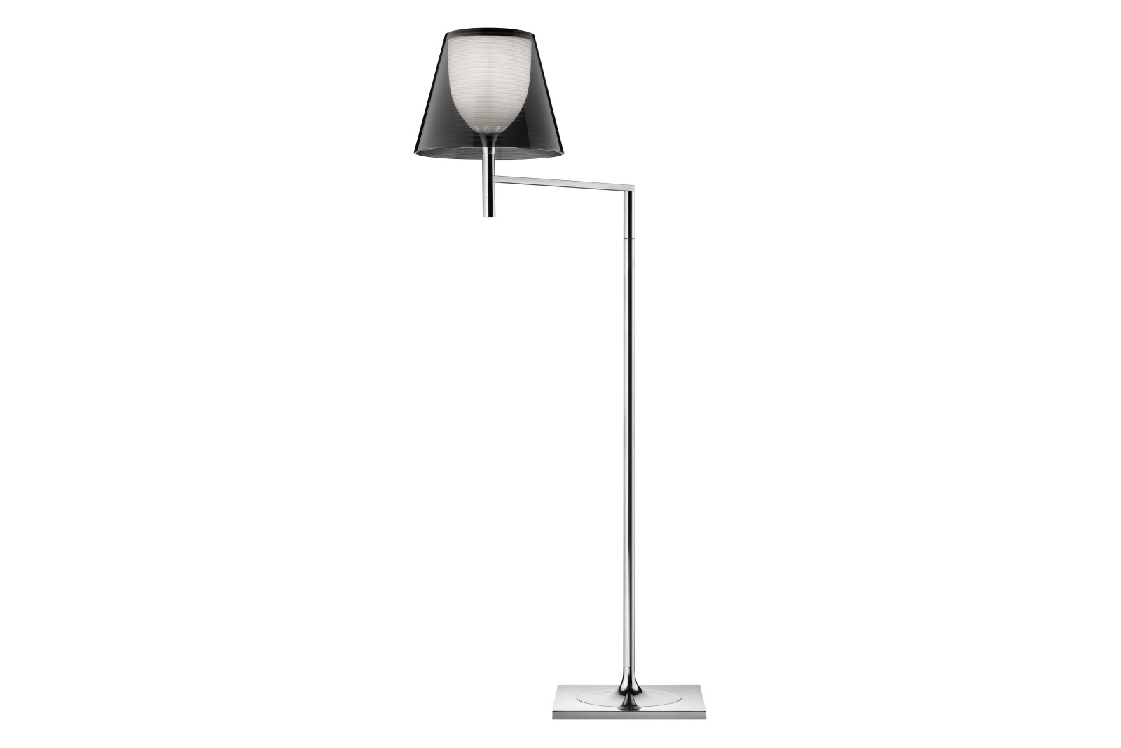 Ktribe F1 Floor Lamp Fumée, Silver