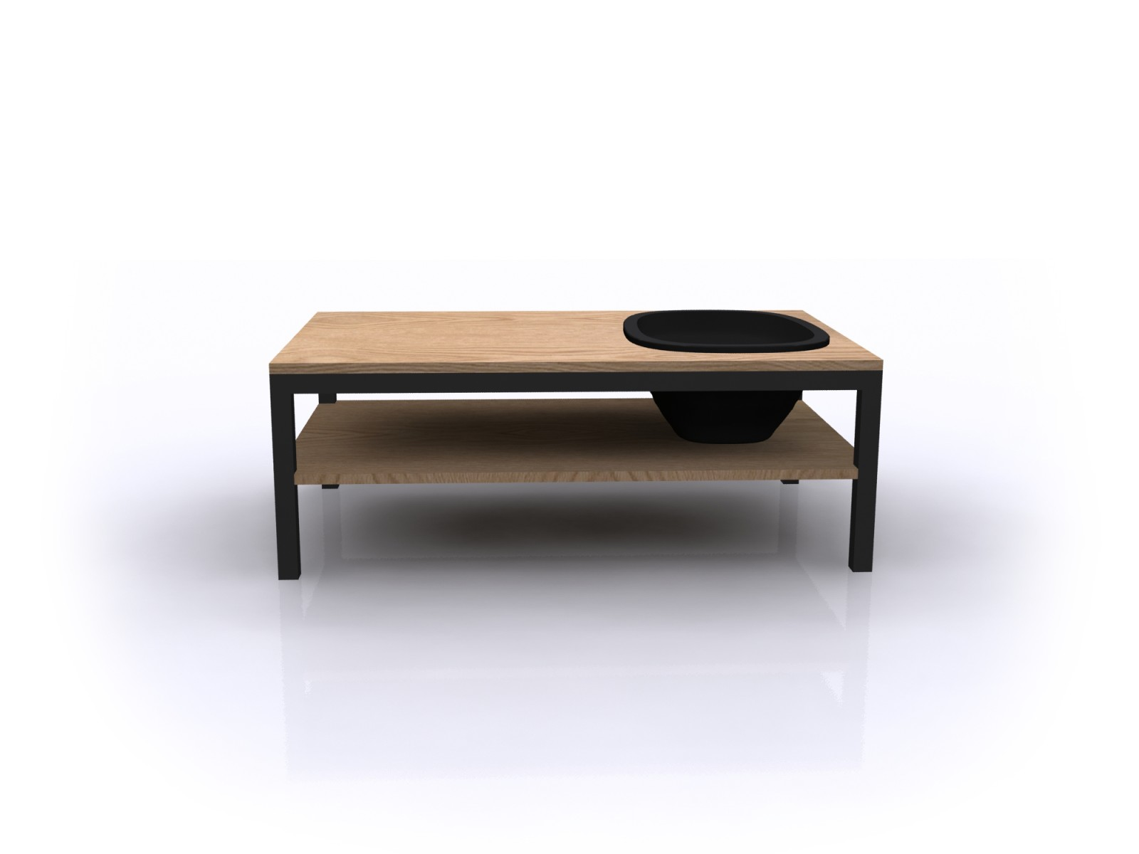 Lagune Coffee Table Wood, Black