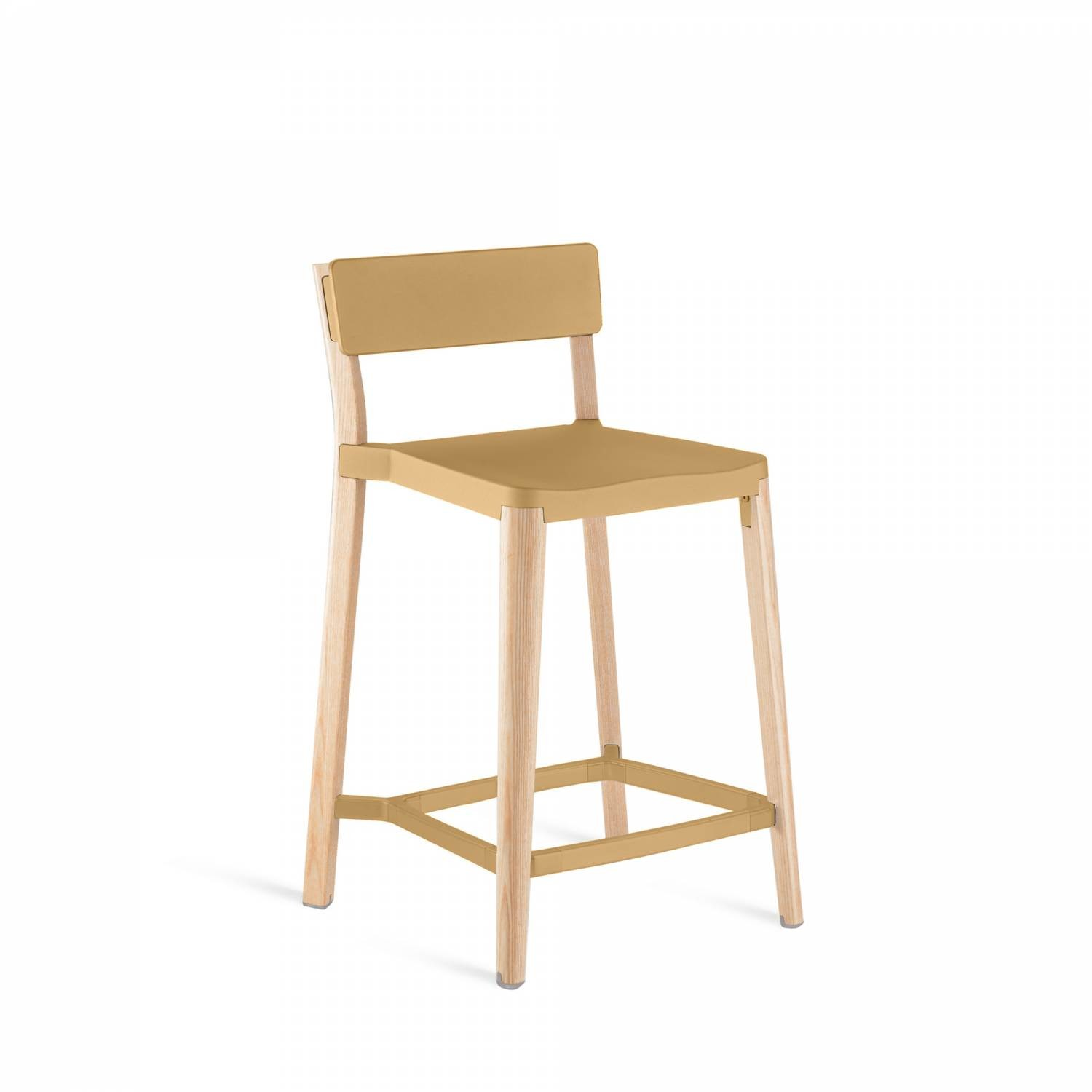 Lancaster Counter Stool Sand, Light Wood Base, Without Seat Pad, Without Back Pad