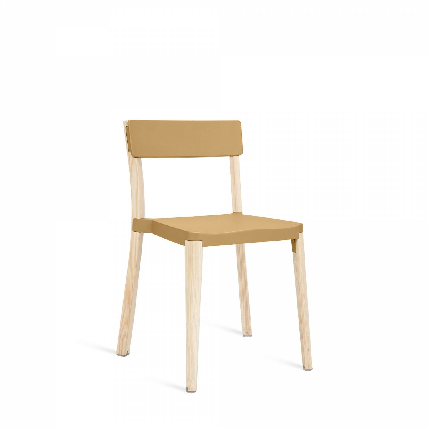 Lancaster Stacking Chair Sand, Light Wood Base, Without Seat Pad, Without Back Pad