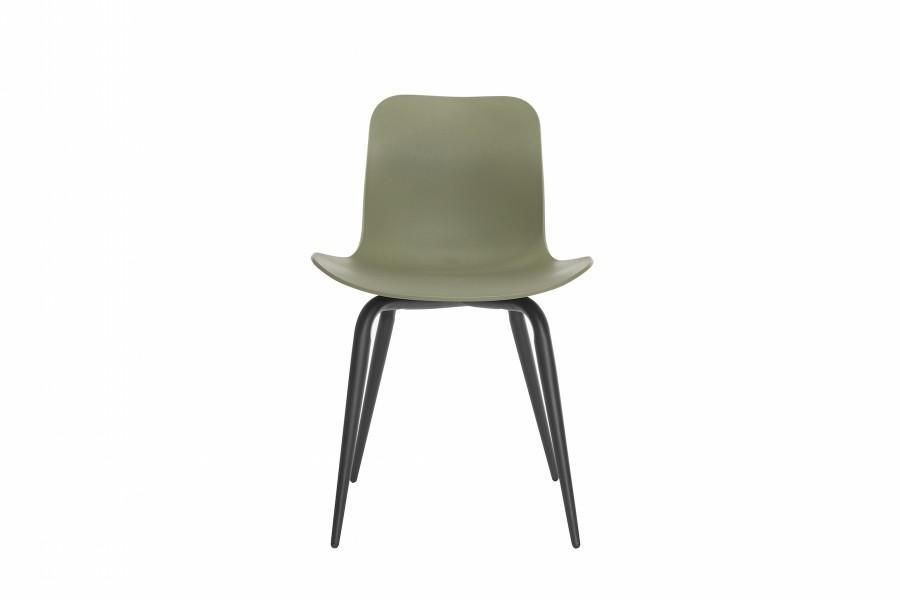 Langue Avantgarde Dining Chair, Black Moss Green