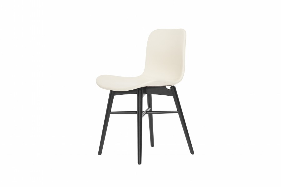 Langue Original Dining Chair, Black - Leather Eggshell Premium Leather