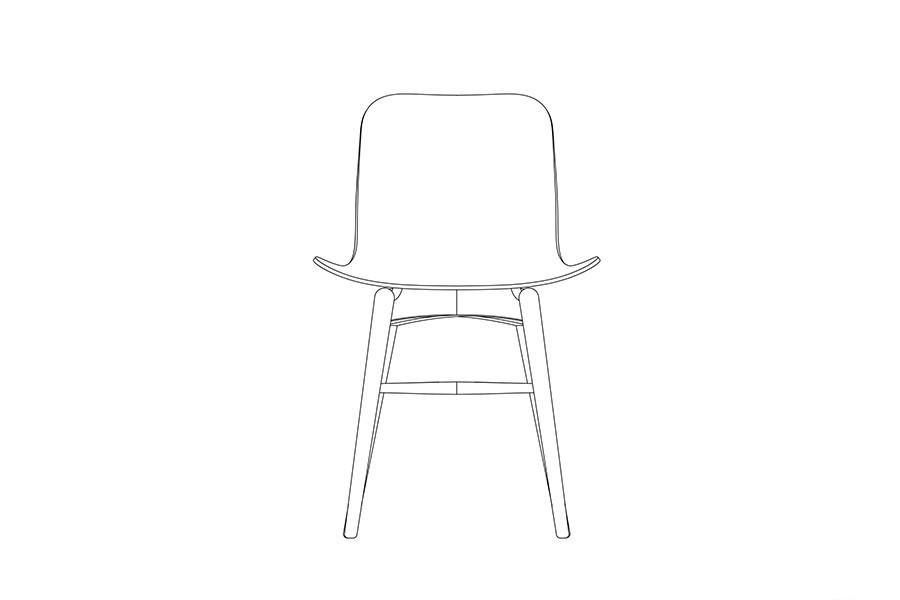 Langue Original Dining Chair, Dark Stained Gargoyle Brown