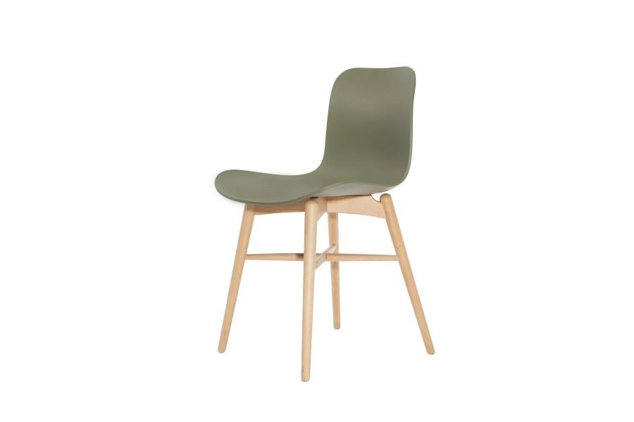 Langue Original Dining Chair, Natural Moss Green