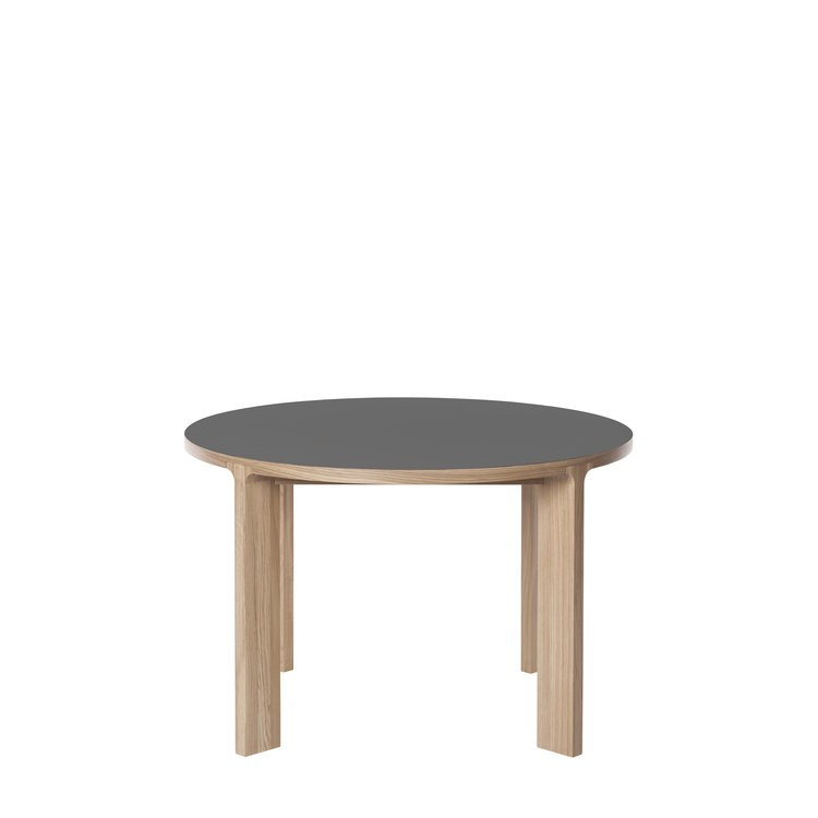 Lastra Round Dining Table Pewter