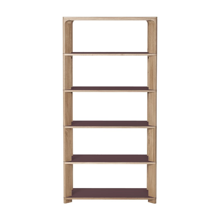 Lastra Tall Shelving Unit Burgundy