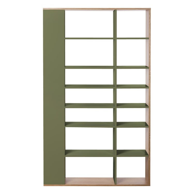 Lato Tall Shelving Unit Olive