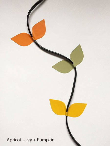 Leaf Cable Stickers Apricot+Ivy+Pumpkin