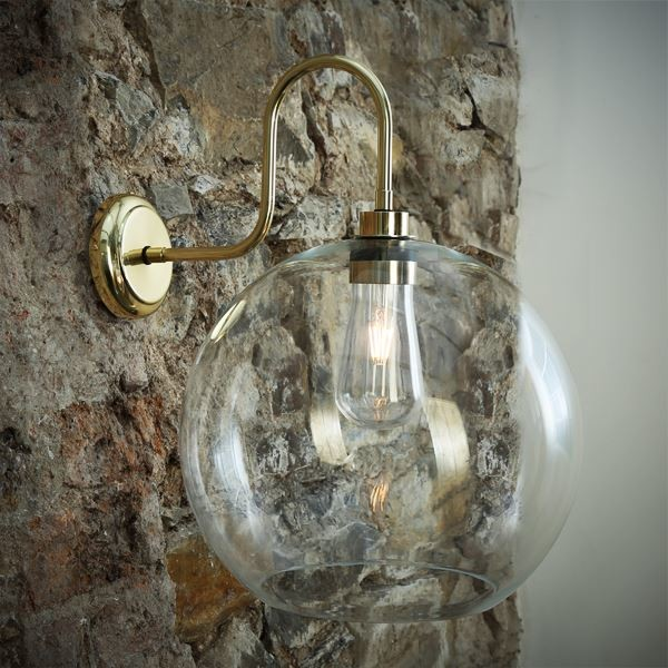 Leith Swan Neck Wall Light Polished Brass