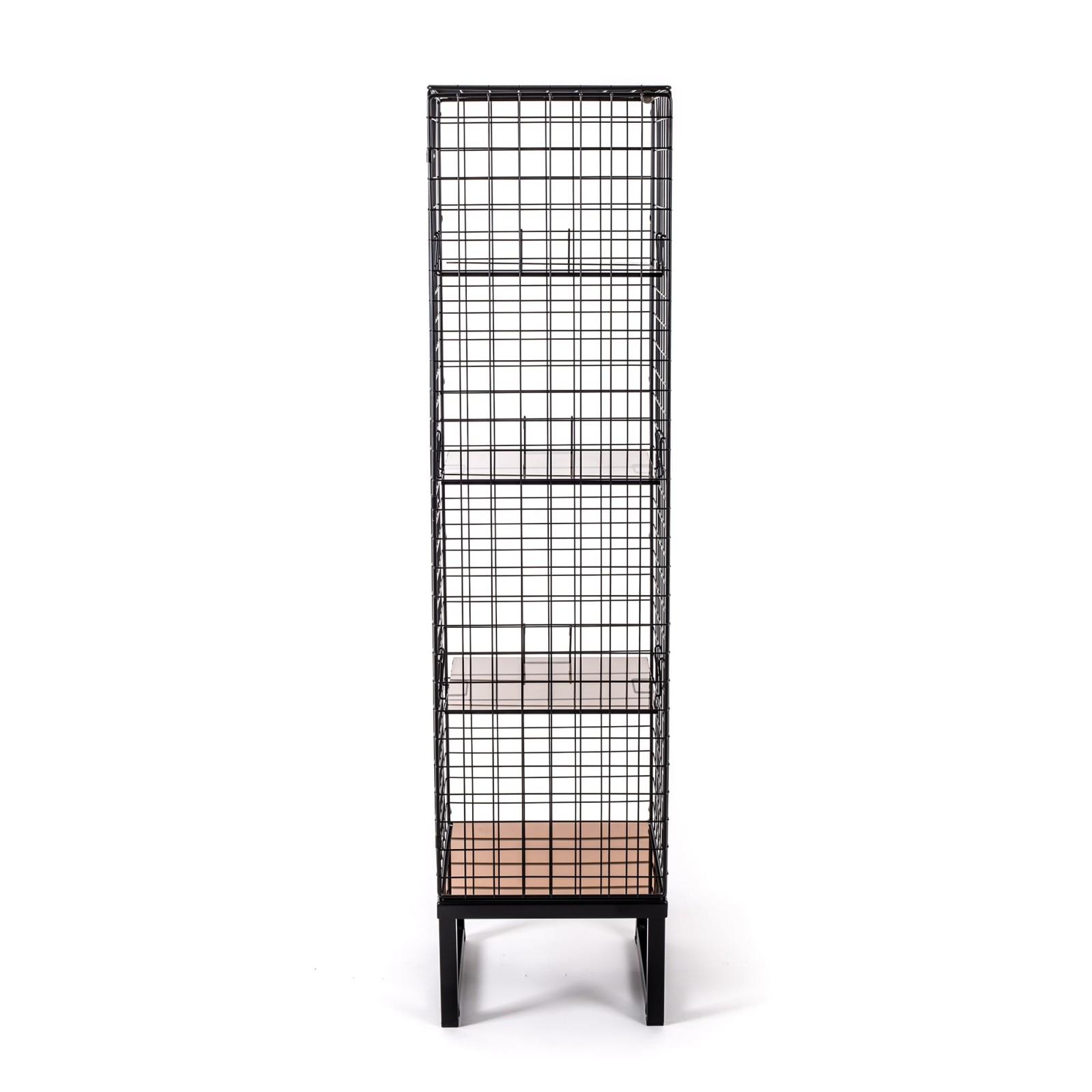 Les Volières Metal Mesh Cabinet Long Black
