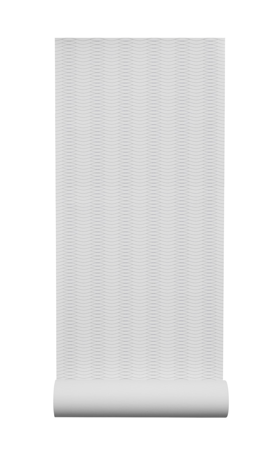 Liinus Wallpaper - Set of 6 White with Grey Lines