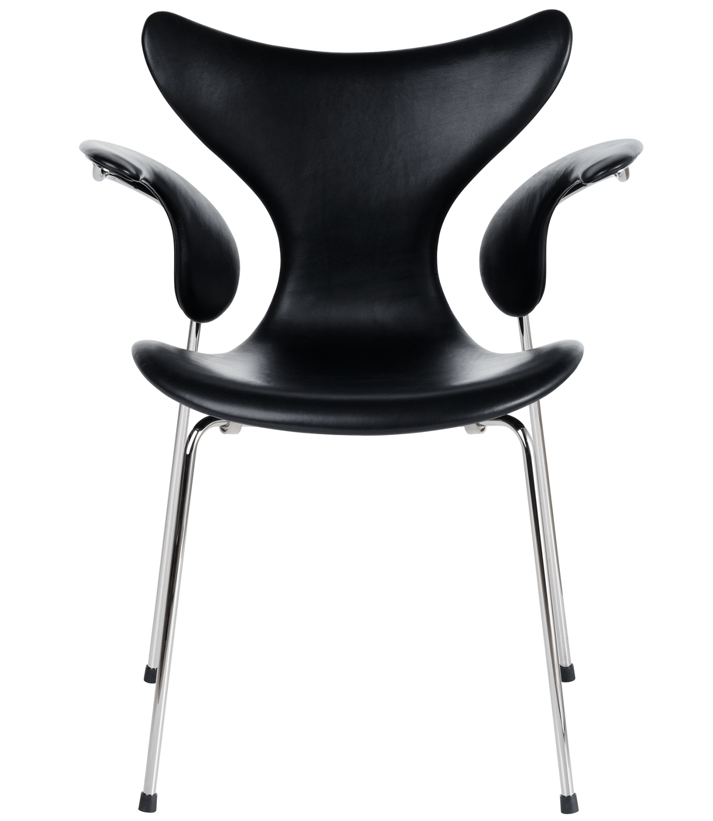 Lily Armchair Elegance Leather Black