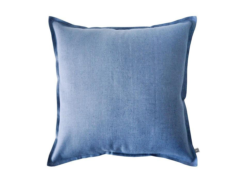 Linen cushion Serenity blue