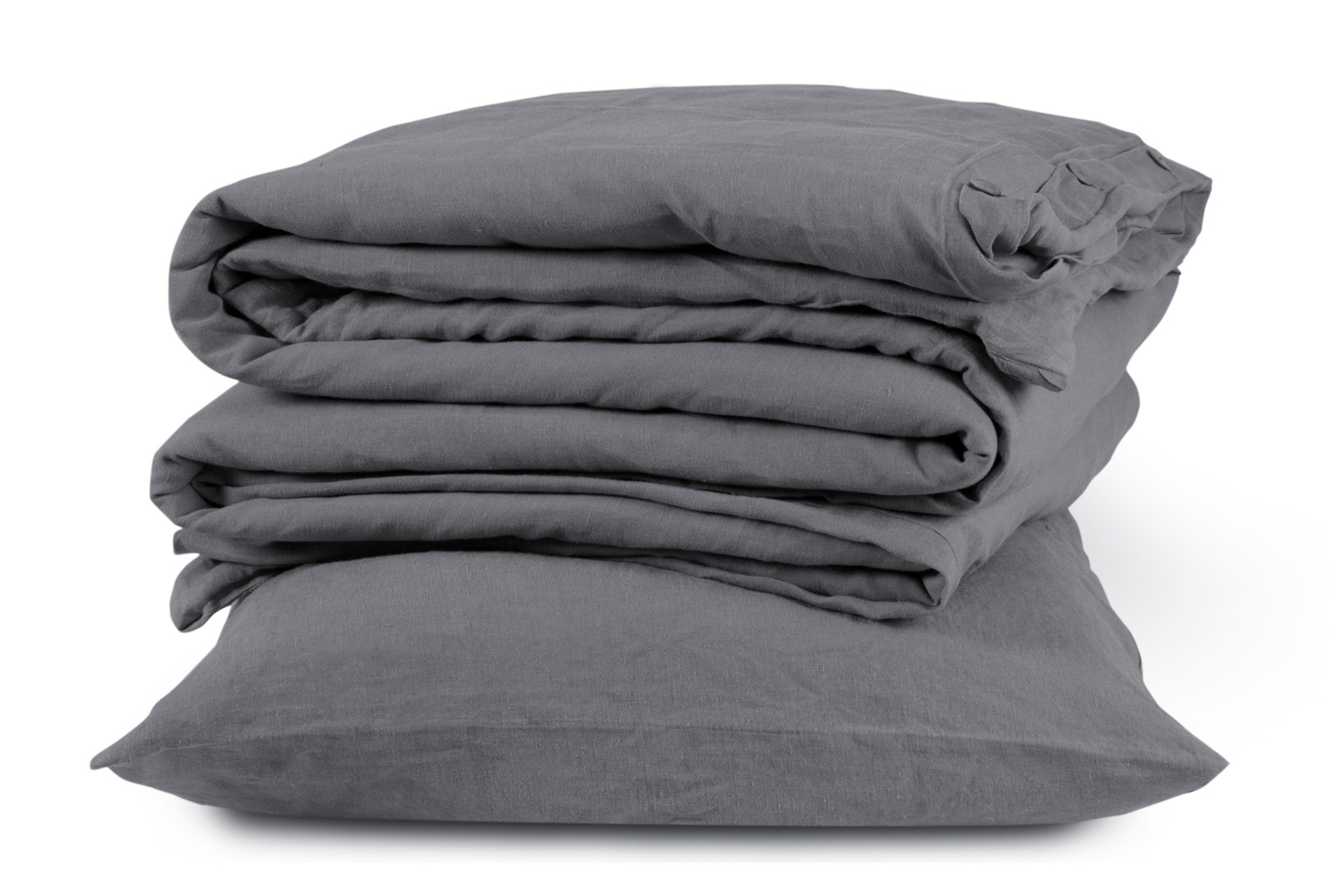 Linen Duvet Cover Lens Charcoal, Single