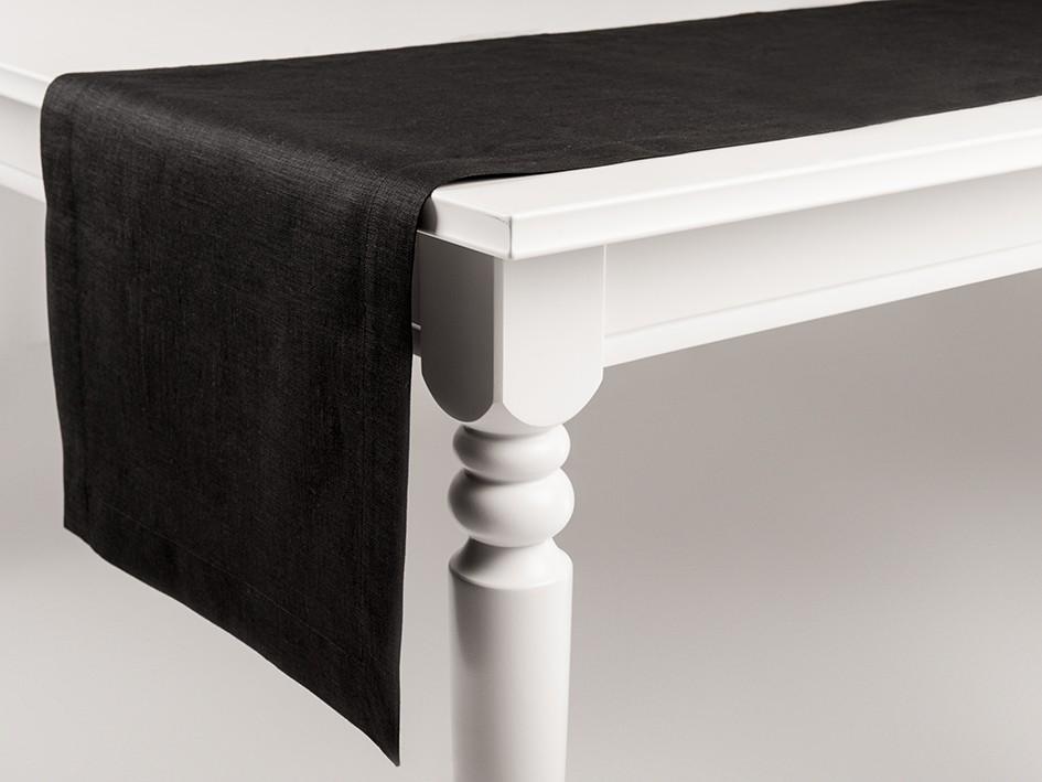 Linen table runner Black 40x180cm