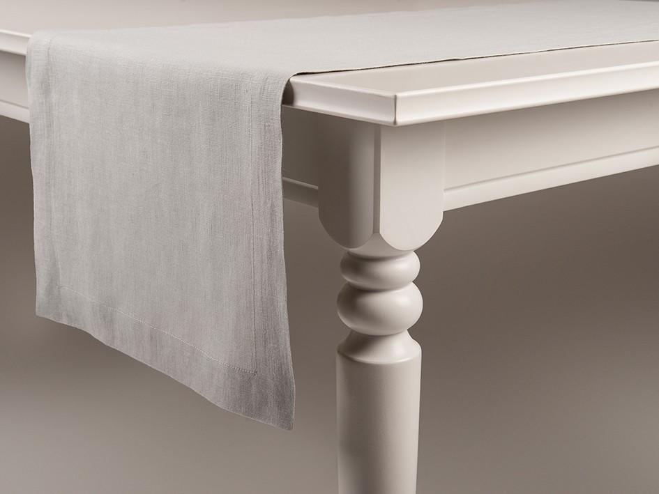 Linen table runner Dove grey 40x240cm